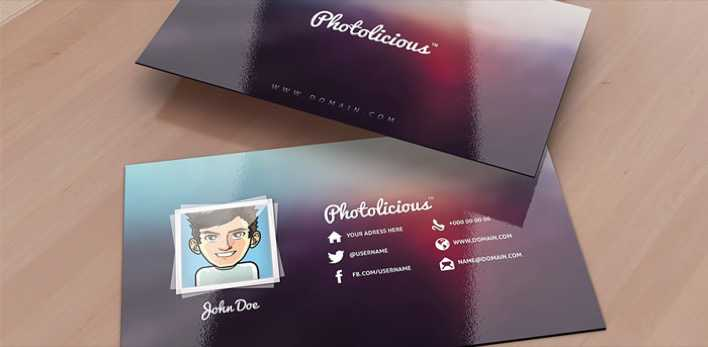Photolicious Photographer Card Page 1