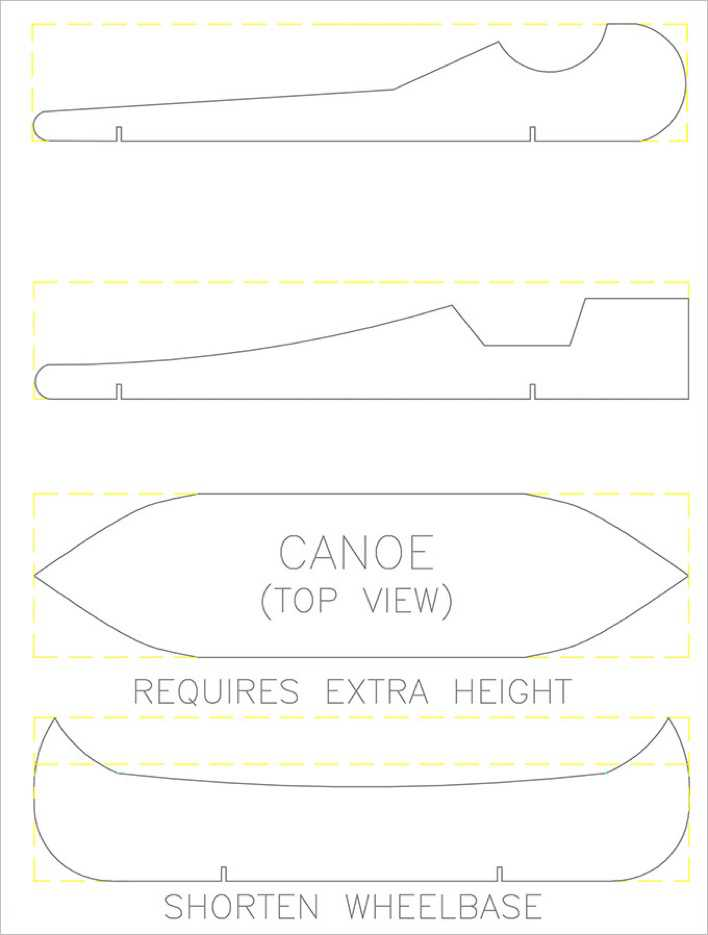 Pinewood Derby Car Template Page 1