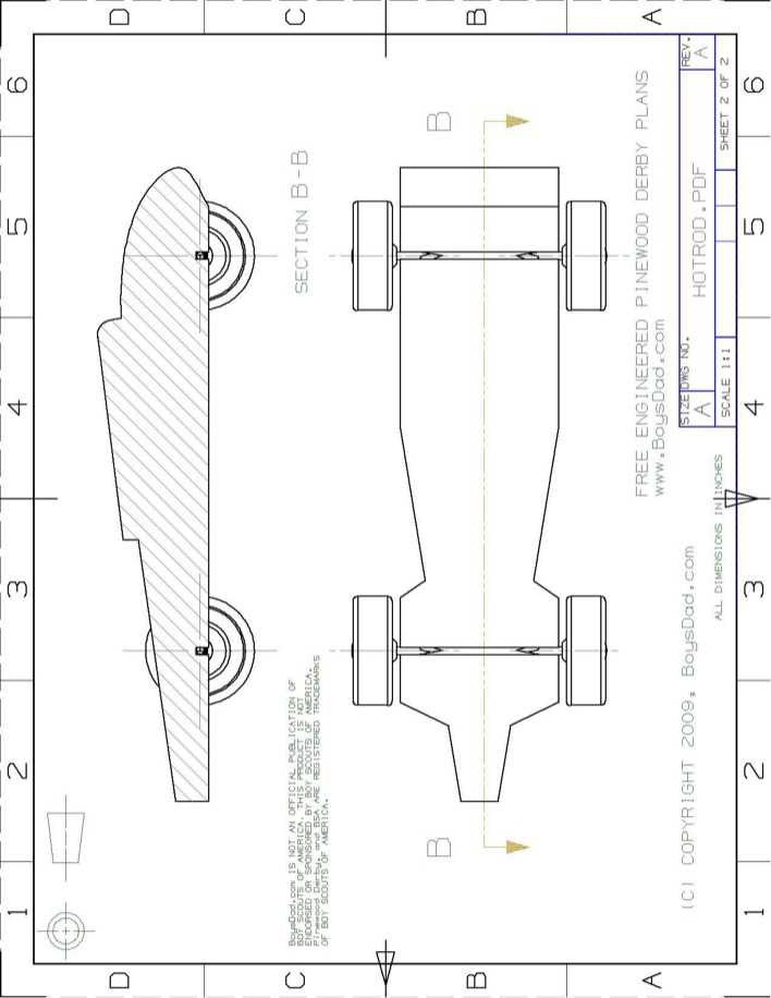 Pinewood Derby Speed Hot Rod Template Free Download Page 1