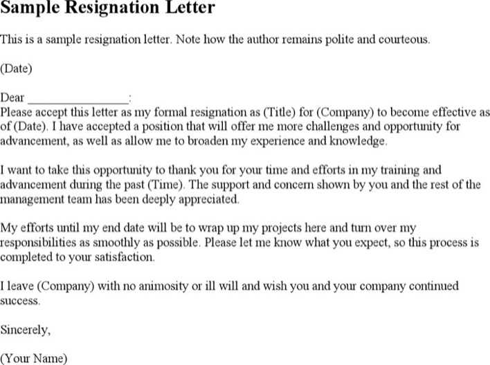 Download Polite Resignation Letter For Free Tidytemplates
