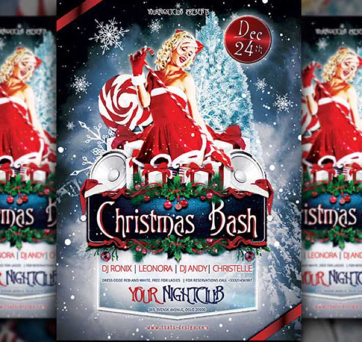 Premium Christmas Bash Flyer Template Download Page 1