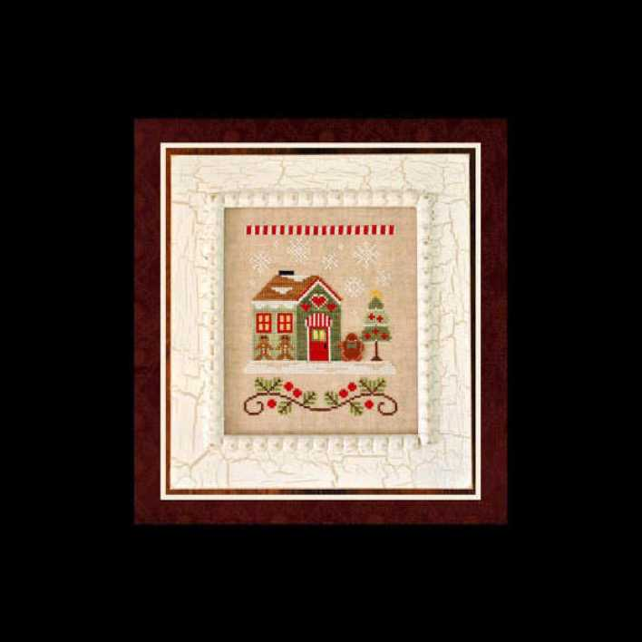 Premium Cross Stitch Pattern Gingerbread House Template Page 1