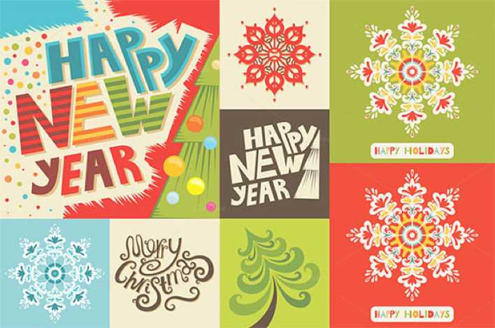 Premium Happy New Year Set EPS Format Download Page 1