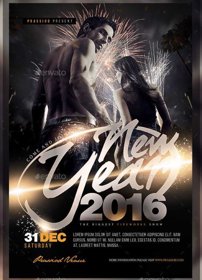 Premium New Year 2016 Flyer Template PSD Design Page 1