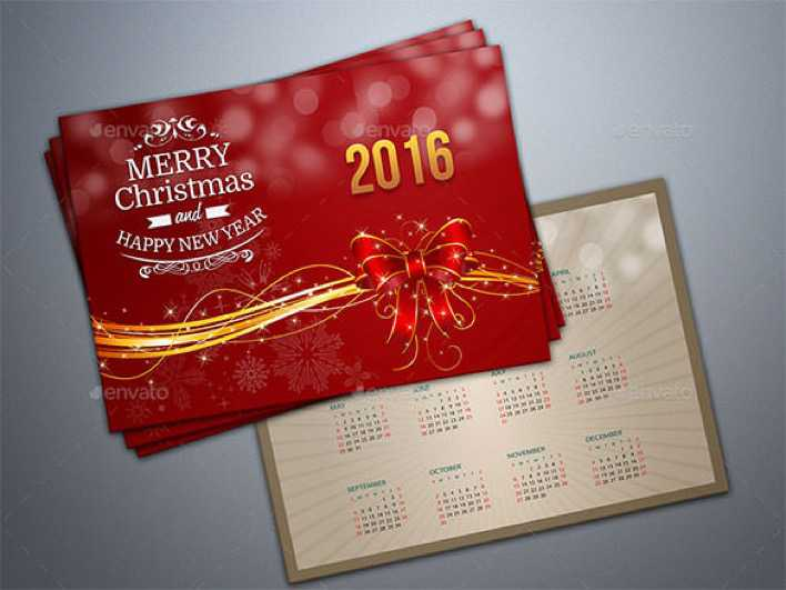 Premium New Year Greeting Card Template Photoshop PSD Page 1