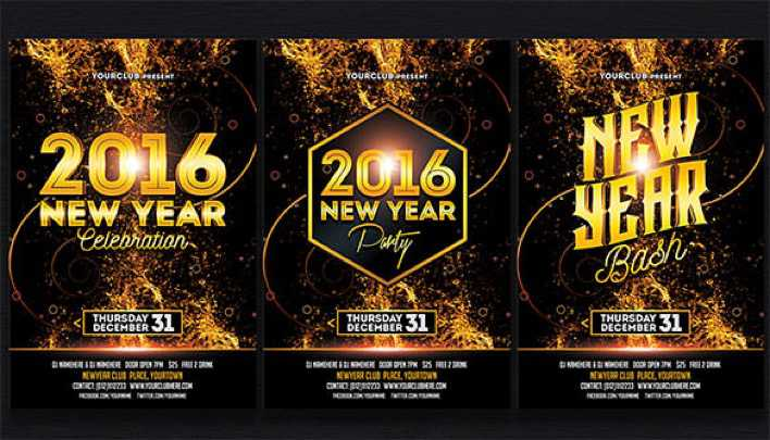 Premium New Year Party Bash Invitation PSD Download Page 1
