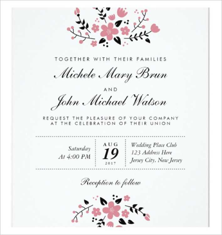 Pretty Floral Modern Stylish Wedding Invitation Template Download Page 1