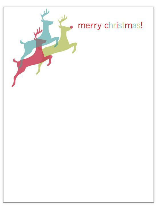 Printable Blank Letter From Santa Template Page 1
