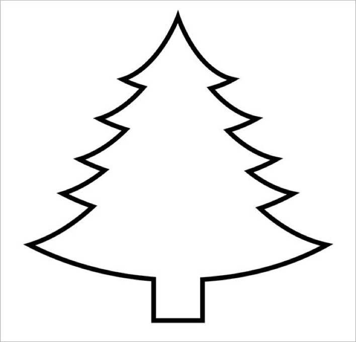 Printable Christmas Tree Template Page 1