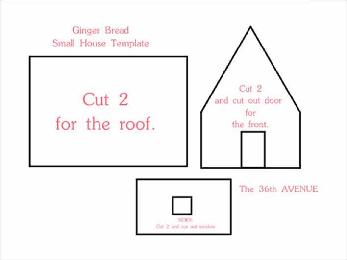 Printable Gingerbread House Templates Page 1