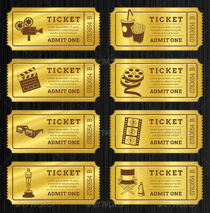 Printable Golden Tickets Templates Bundle Page 1