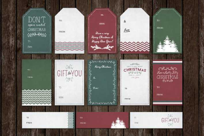 Printable Holiday Gift Tag Template Download Page 1