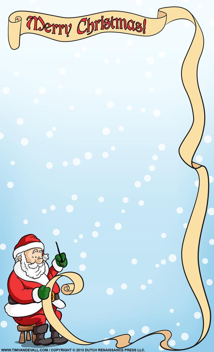 Printable Santa Christmas Letter Template Download Page 1