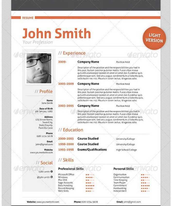 Professional Cv Templates Download: Download Professional Resume CV Template1 For Free