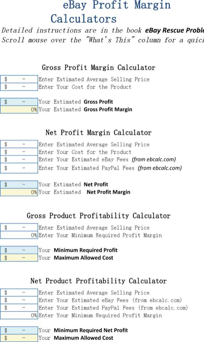 Download Profit Margin Calculator Excel Template For Free Page 2