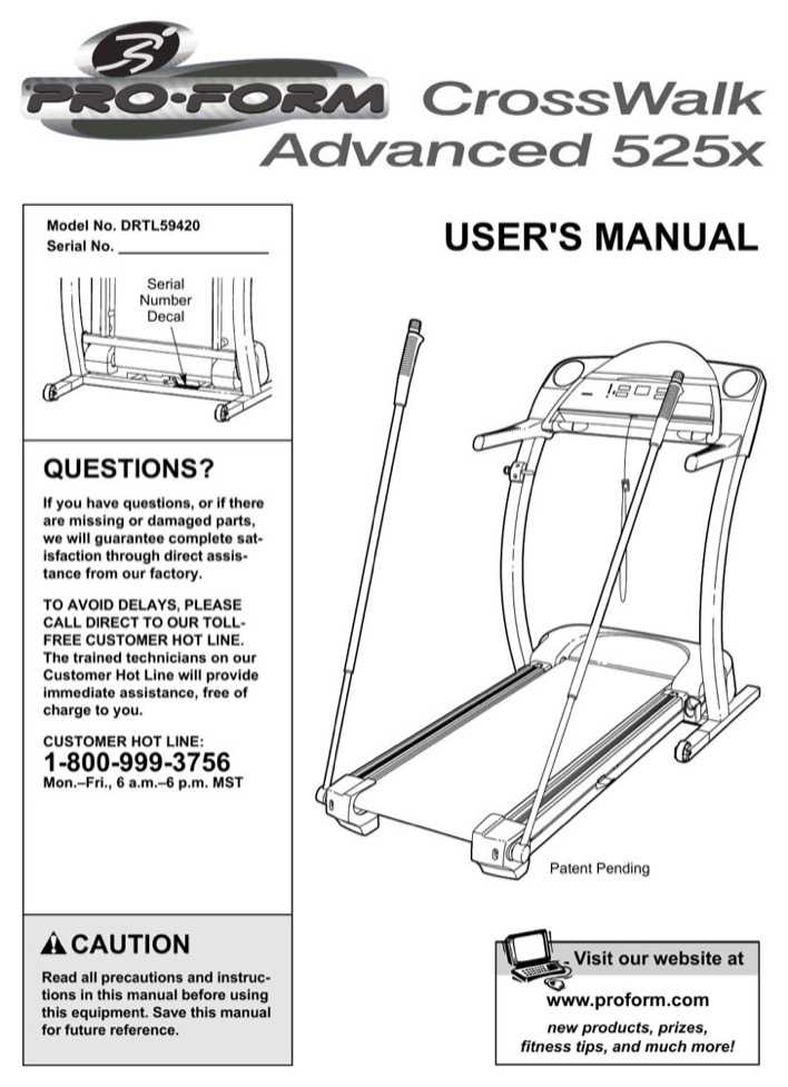 Owners manual For proform J8