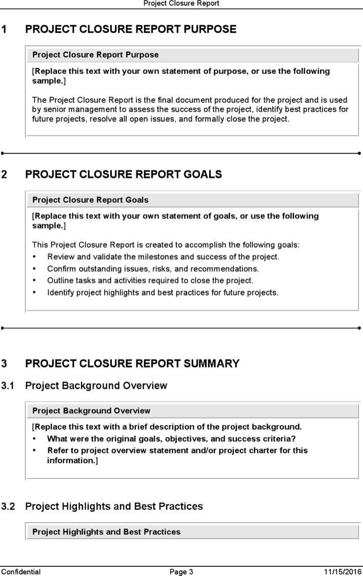 download project closure report template for free page 3. Black Bedroom Furniture Sets. Home Design Ideas