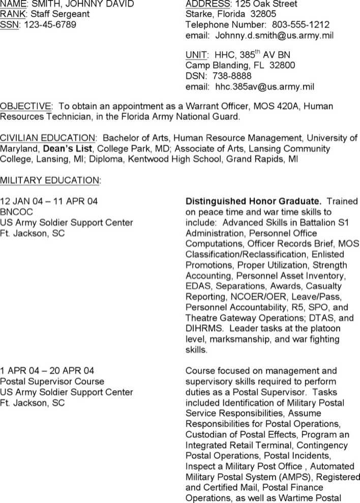 Download Resume Sample For Free