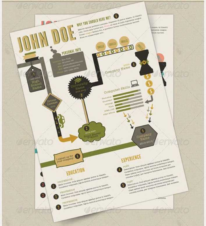 Retro Infographics Resume Page 1