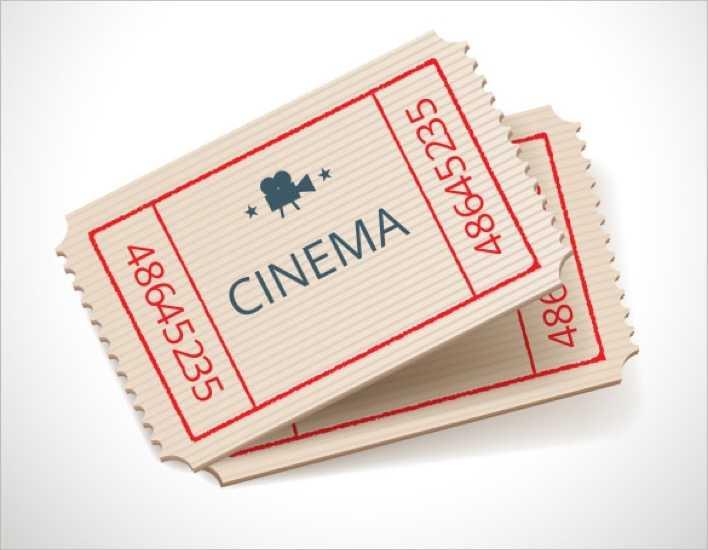 Retro Style Cinema Ticket Design Page 1