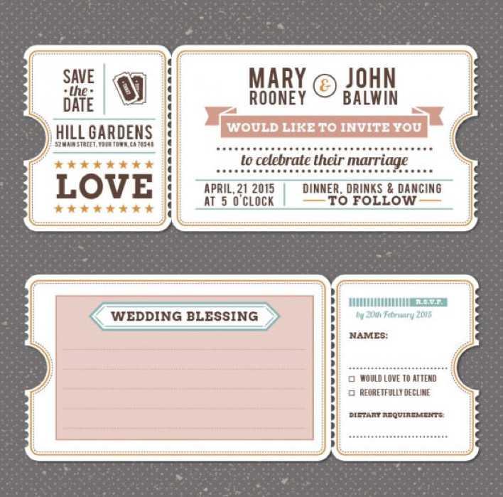 Retro Vintage Wedding Invitation Template Free Vector Page 1