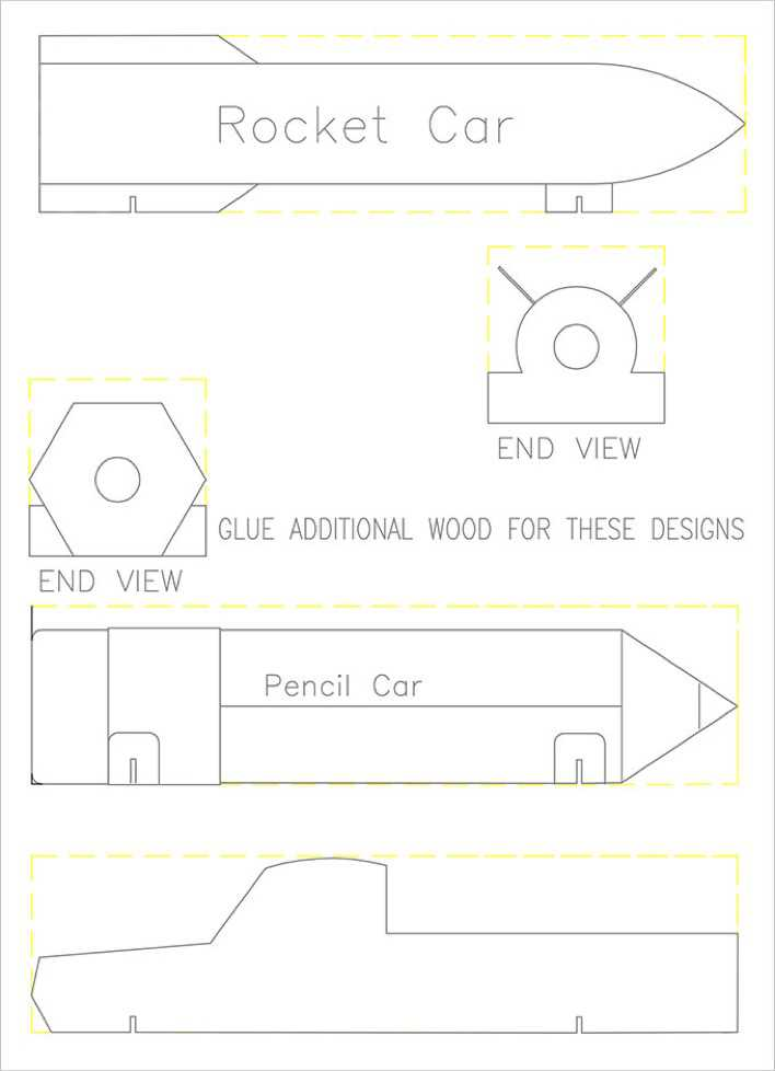 Rocket Pinewood Derby Template Free Page 1