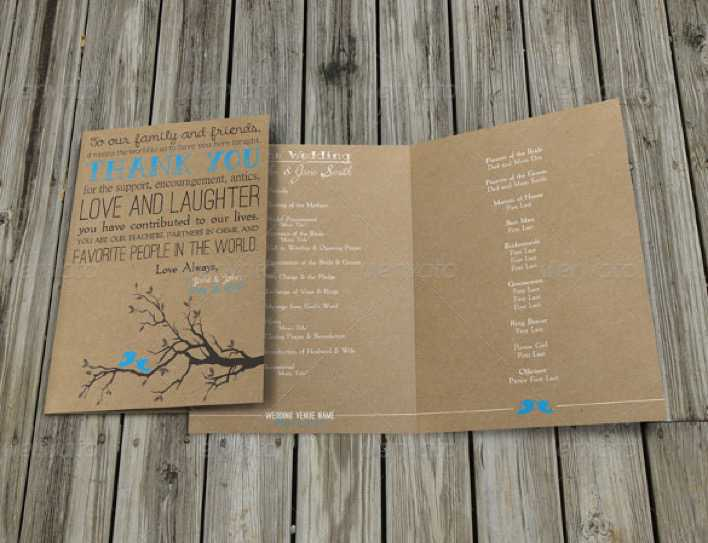 Rustic Wedding Program Template For Download Page 1
