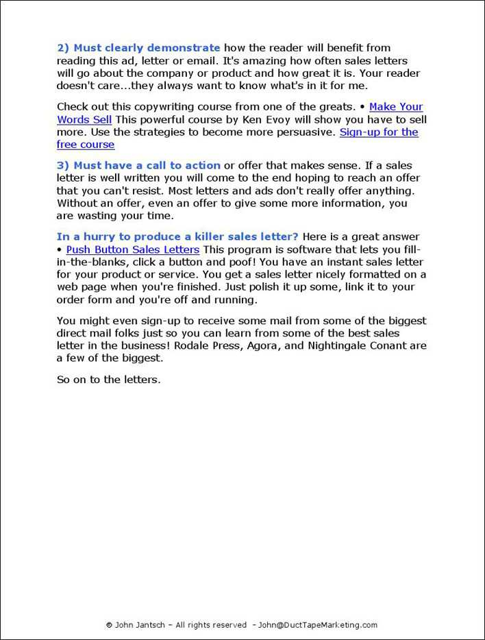 Download Sales Letter Sample 2 For Free Page 3 Tidytemplates