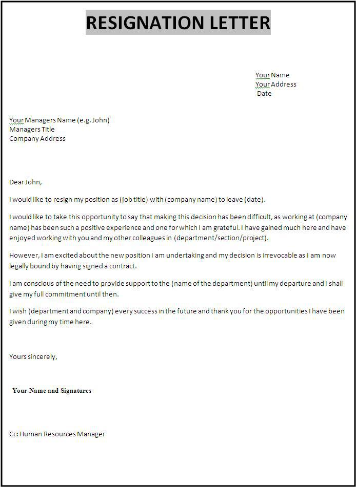 Download Sales Manager Resignation Letter Template for Free ...