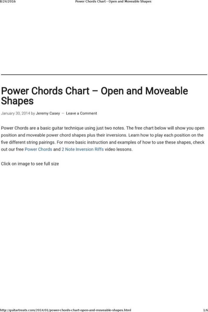 Download Sample Basic Electric Guitar Chord Chart For Free