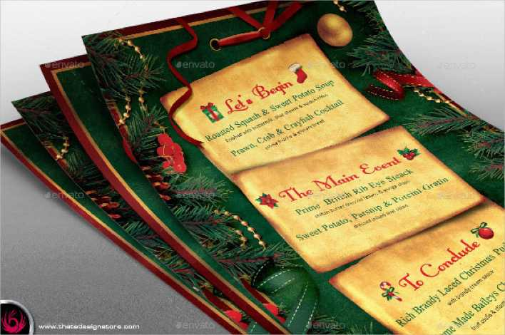 Sample Christmas Menu Template Page 1