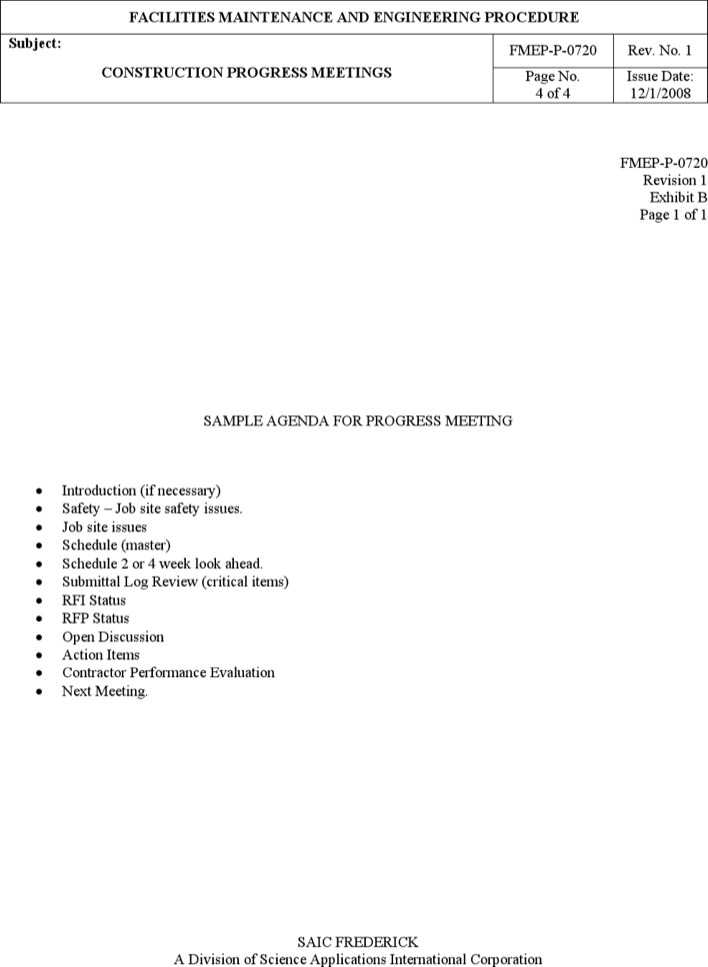 download sample construction meeting minutes template for free