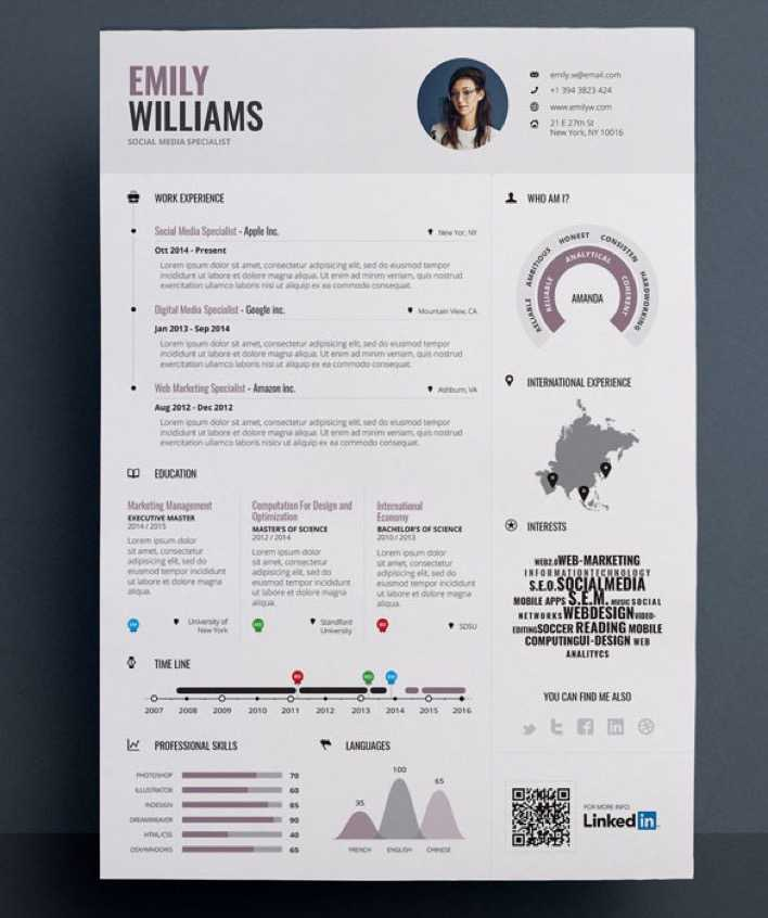Download Sample Editable in EPS Infographic Resume Template Download ...