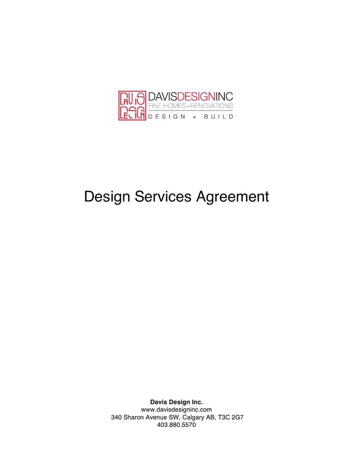 Download Sample Interior Design Contract Template PDF