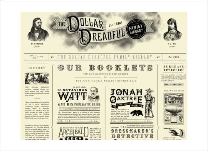 Download Sample Printable Dollar Dreadful Newspaper Template For