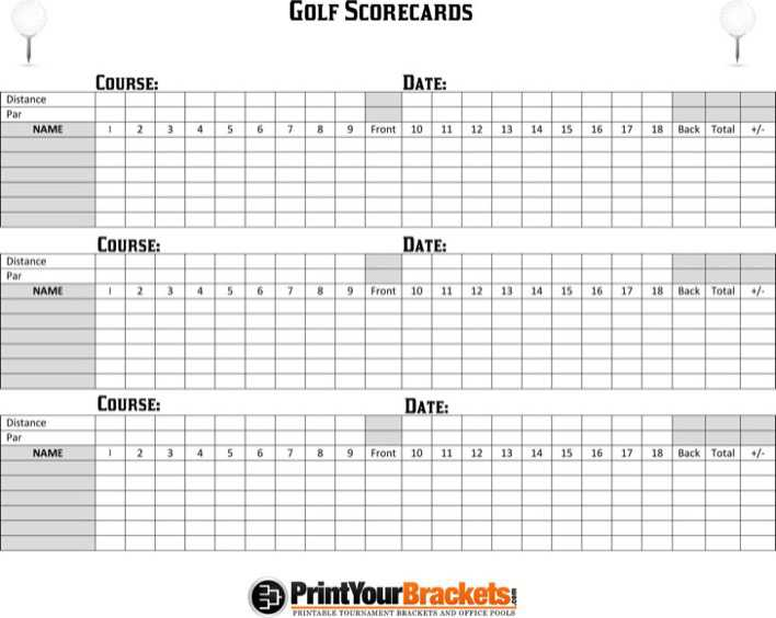graphic relating to Printable Golf Scorecard titled golfing scorecard template no cost obtain - Sinma