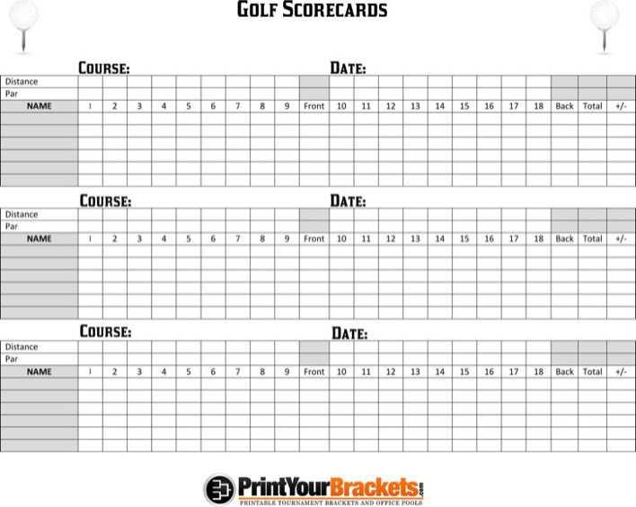 photo about Printable Golf Scorecard named golfing scorecard template no cost obtain - Sinma