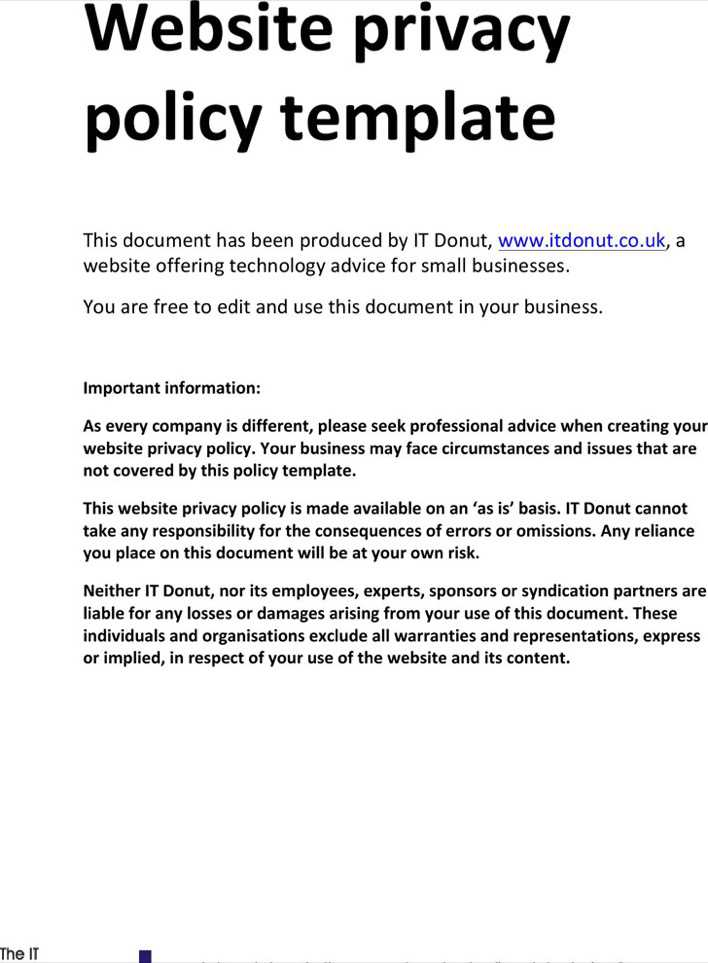 Download sample privacy policy 2 for free tidytemplates sample privacy policy 2 page 1 maxwellsz