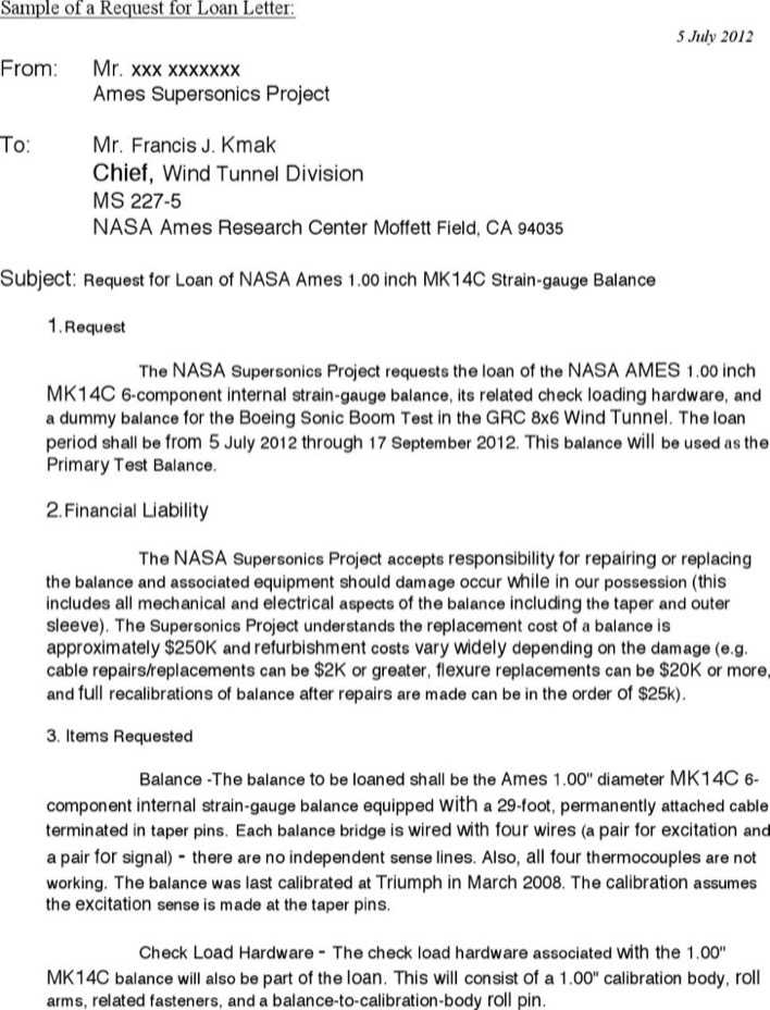 sample request loan approval letter page 1