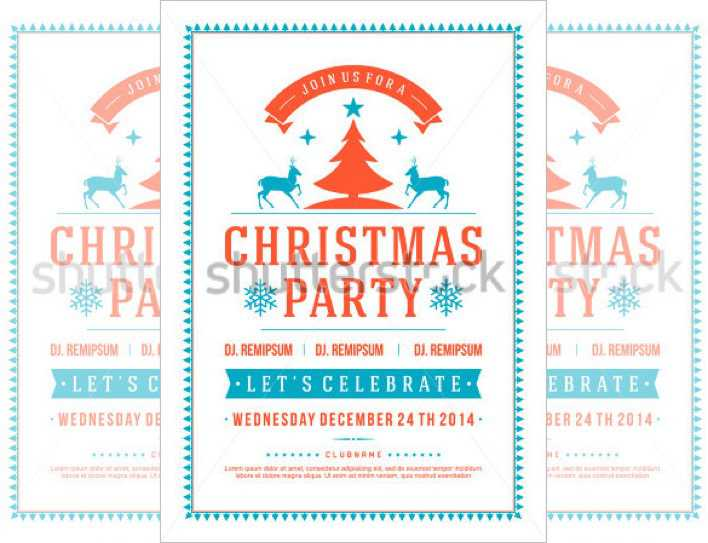 Sample White Color Holiday Party Flyer Template Page 1