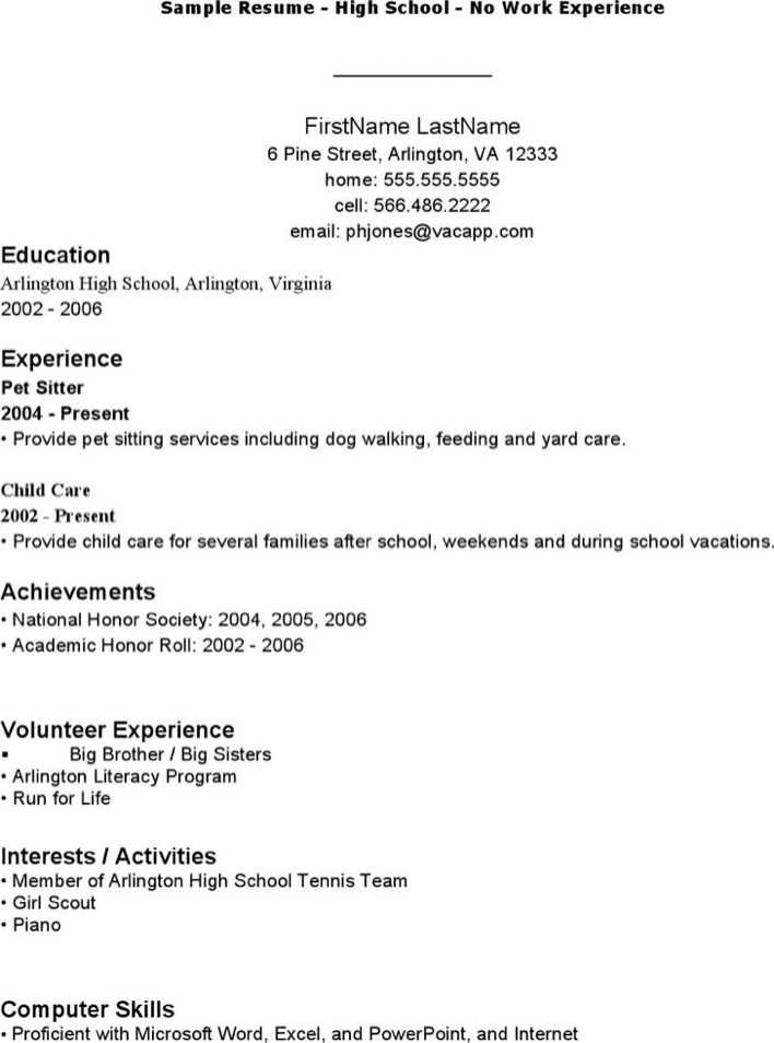 Download Sample Work Resume Template For Free