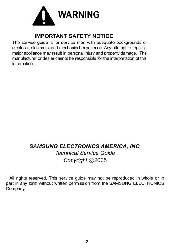 Download Samsung Service Manual Sample For Free Page 2