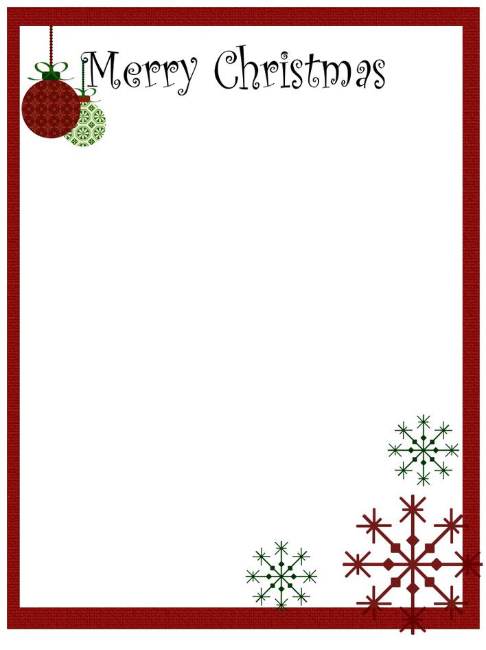 Santa Claus Christmas Letter Template Free Download Page 1