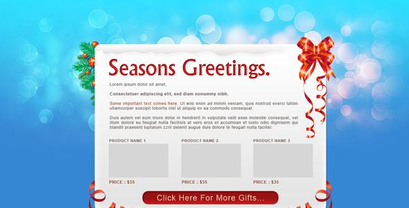 Santamail - Christmas Newsletter Template Psd Page 1