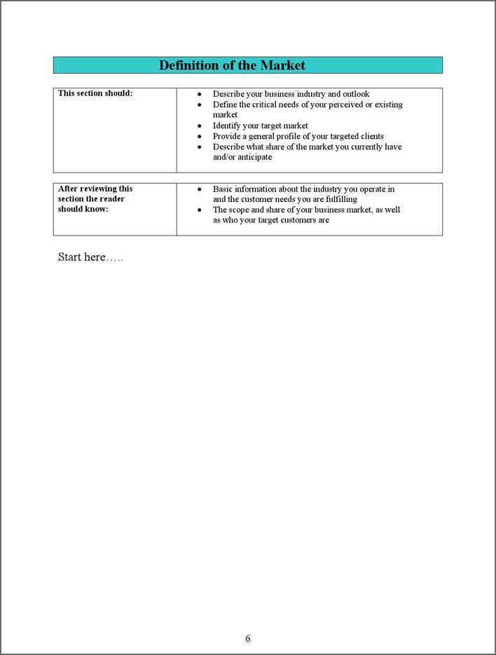 Download Sba Business Plan Template 1 For Free Page 6 Tidytemplates