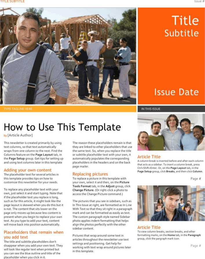 Download School Newsletter Template 3 For Free Tidytemplates