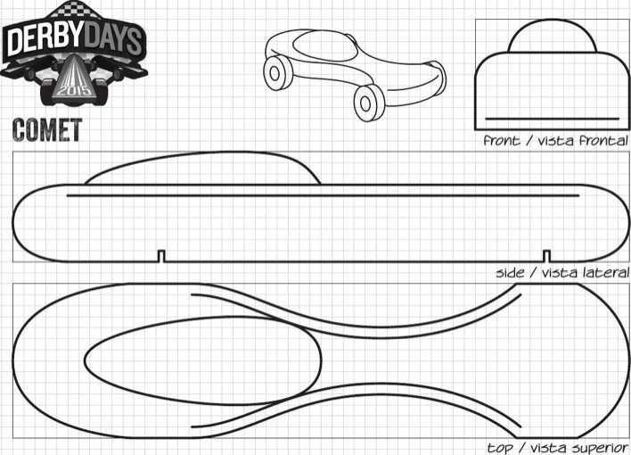 Screamer Derby Days Car Template PDF Printable Page 4
