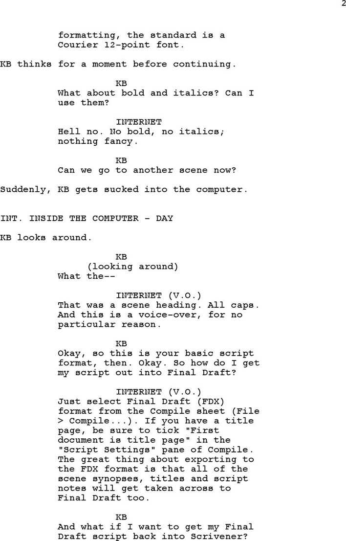 download screenplay template 3 for free