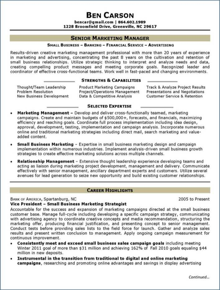download senior marketing analyst resume free pdf for free