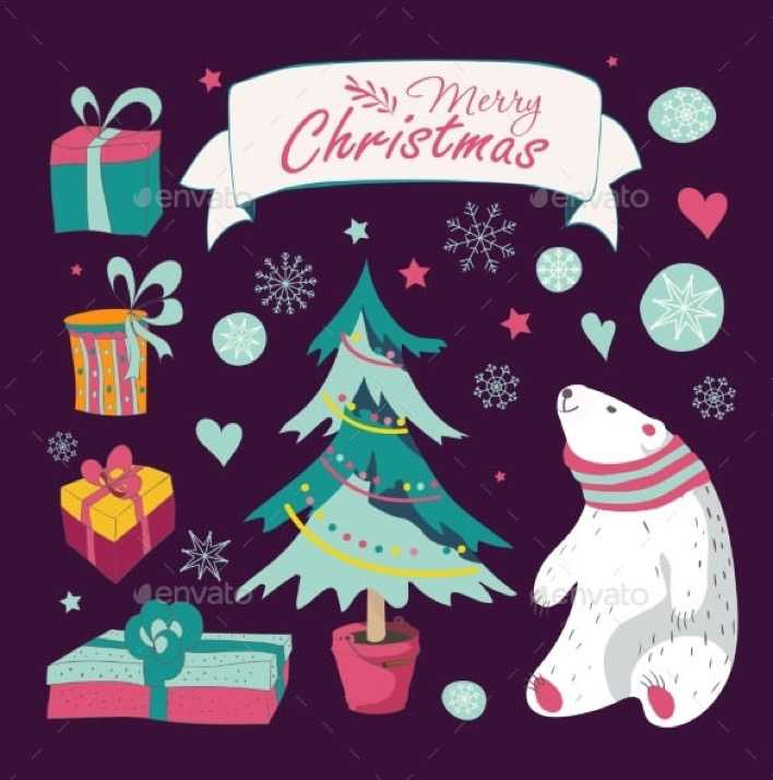 Set Of Christmas And New Year Graphic Elements EPS Page 1